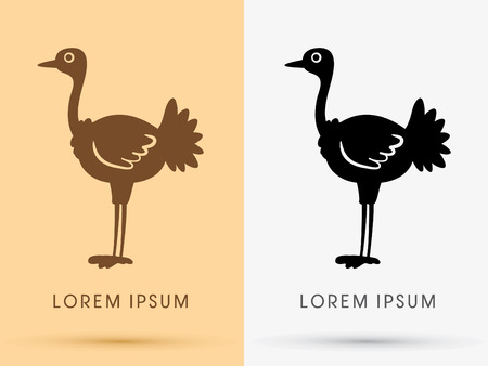 ostrich: Ostrich icon graphic symbol Vector. Illustration