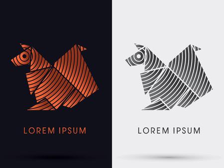 chipmunk: Squirrel  chipmunk origami paper icon graphic symbol Vector. Illustration
