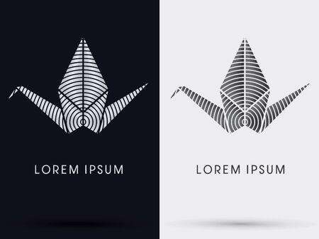 Bird origami paper icon graphic symbol Vector. Vector