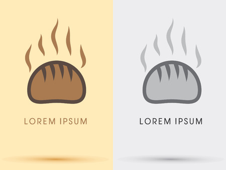 Hot Bread bun bakery  icon graphic symbol Vector. Vector
