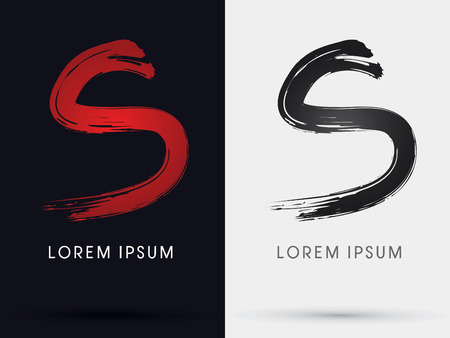S grungy fontcross brush symbol icon graphic vector . Stock Illustratie