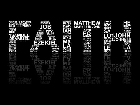Wiara z Biblii słowo grafiki wektorowej. Ilustracje wektorowe