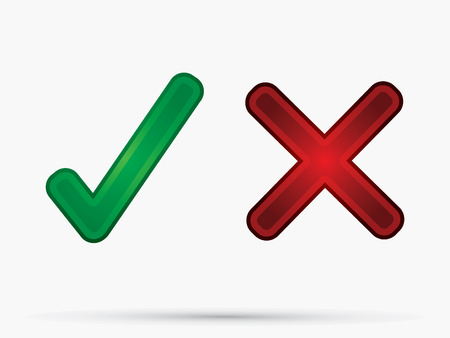 yes no: Check  Mark X  Yes No icon graphic symbol vector. Illustration