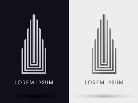 arquitectura: Construyendo abstracto icono símbolo gráfico vectorial.