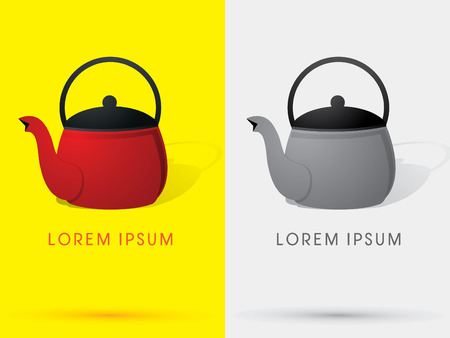 teakettle: Teapot  kettle teakettle symbol icon graphic vector.