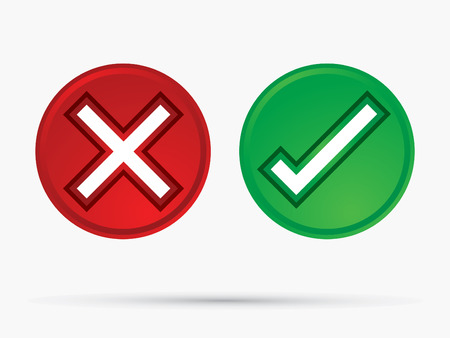 yes no: Check Mark X  Yes No icon graphic symbol Vector.