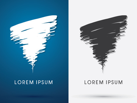 Tornado Storm hurricane whirlwind brush abstract  symbol icon graphic vector . Illustration