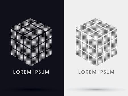 cube box: Cube Box sign  symbol icon graphic vector .