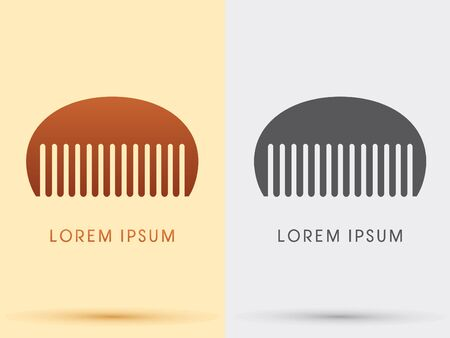 CombBarber comb salon comb symbol icon graphic vector . Vector