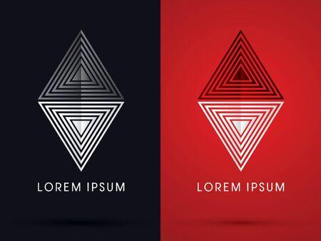 gem: Stone Gem abstract symbol icon graphic vector. Illustration