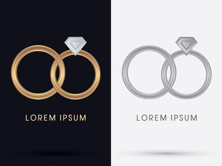Diamond Rings  symbol icon graphic vector. Vector