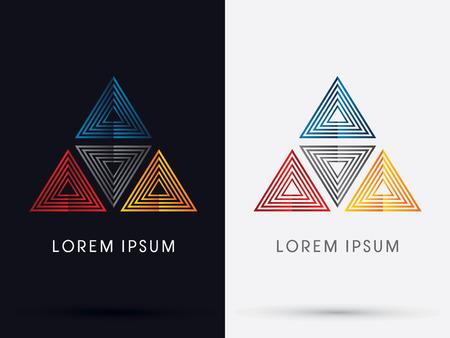 C M Y K Pyramid  symbol icon graphic vector . Illustration