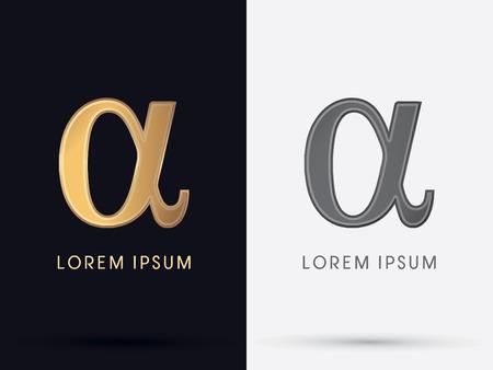 Alfa signo símbolo icono gráfico vectorial.