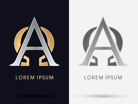 Alfa y Omega signo símbolo icono de gráfico vectorial.