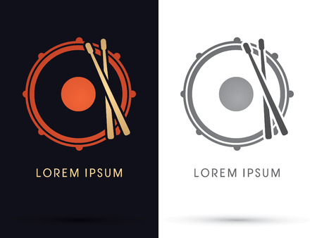 strikken: Drum Snare symbool icongraphicvector.