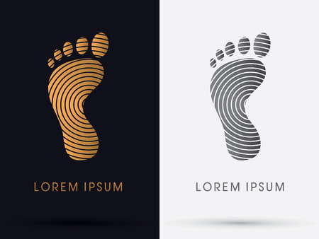 massage symbol: Foot Footprint symbol icon graphic vector.