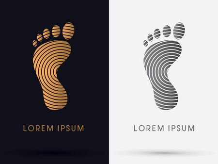 massage: Fuß-Abdruck-Symbol Symbol Vektor-Grafik.