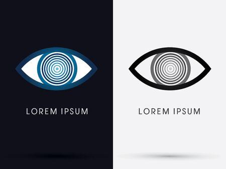mesmerize: Eye abstract logo symbol icon graphic vector.