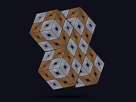 cube box: Cross Cube Box graphic vector . Illustration