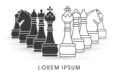 Chess Set symbol icon graphic vector . Vector