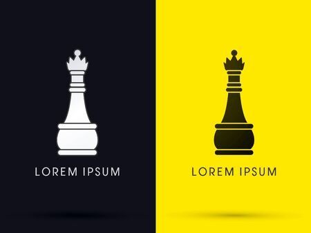 queen: QueenChess  logo symbol icon graphic vector .