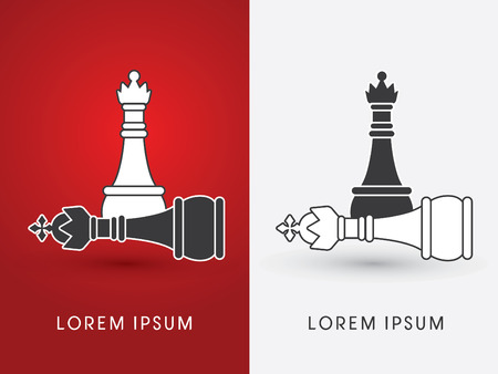 King and Queen Chess symbol icon graphic vector . Vector