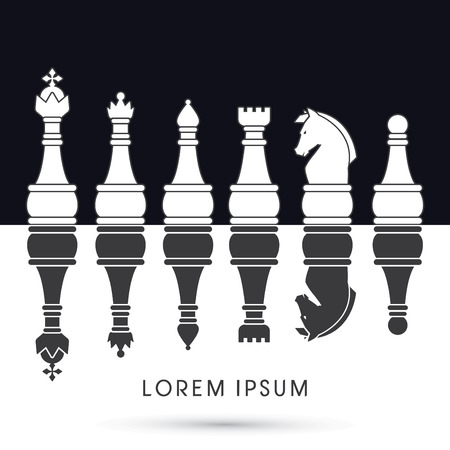 chess set: Chess Set  symbol icon graphic vector .