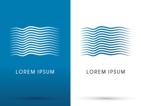Fluss Welle Wasser Logo Symbol Symbol Vektor-Grafik.