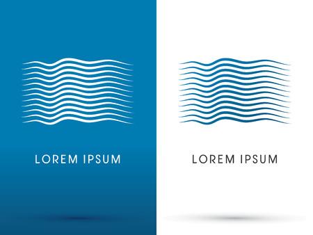 River Wave Water logo symbol icon graphic vector.