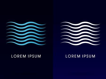 Río Water Wave logotipo del icono del símbolo gráfico vectorial.