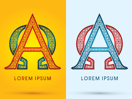 alpha: Alpha and Omega Luxury font hot and cool logo symbol icon graphic vector.
