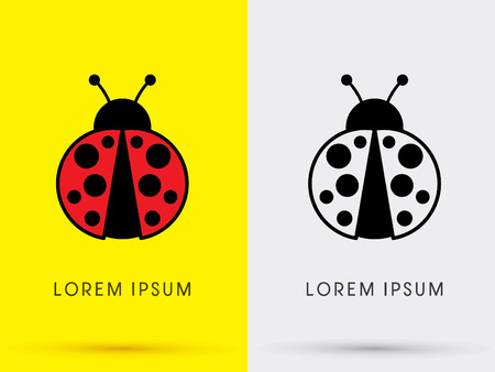 Ladybug Beetle logo graphic vector. Illustration
