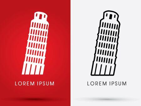 tower of pisa: Pisa tower logo graphic vector.