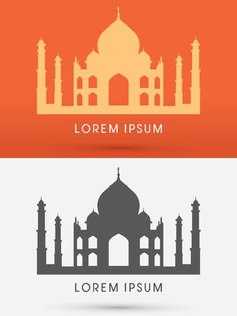 mahal: Taj Mahal  graphic vector.
