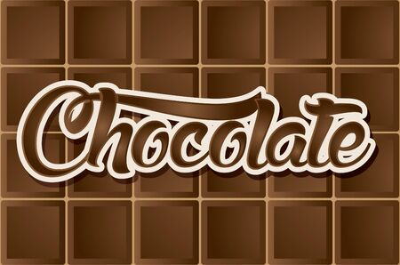 dark chocolate: Dark Chocolate type font graphic vector