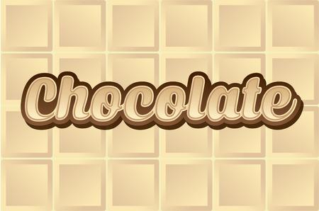 white chocolate: White Chocolate type font graphic vector