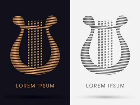 lyre: Lyre logo symbol icon graphic vector.