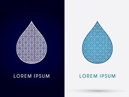 gota agua: Lujo gota de agua logo gr�fico vectorial.