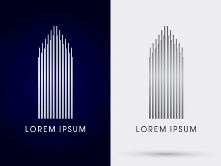 Luxury Building Condominium  abstract  logo symbol icon graphic vector. Vettoriali