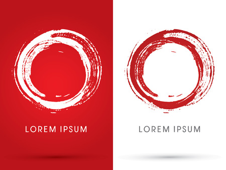 red circle: O alphabet0Zero Blood stains designed using brush grunge logo symbol icon graphic vector.