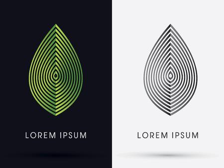 logo batiment: Feuille de luxe con�u en utilisant logo vert de ligne symbole vecteur ic�ne graphique.