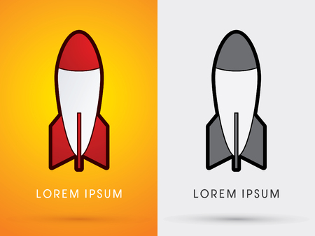 missile: Missile Rocket weaponcartoon logo symbol icon graphic vector. Illustration