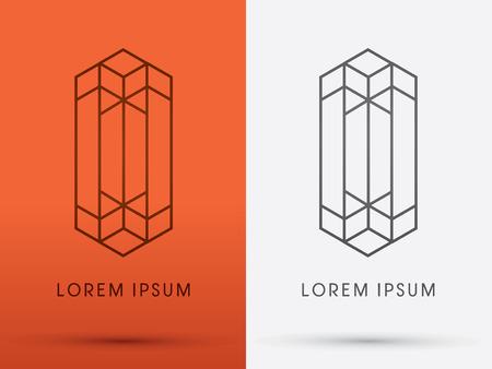 arquitecto: Resumen Buildingarchitecture diseñado utilizando el logotipo icónico símbolo gráfico vectorial. Vectores