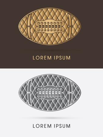 Luxury abstract American football ball logo symbol icon graphic vector. Vector