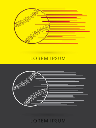 fastball: Fast Baseball ball logo symbol icon graphic vector.