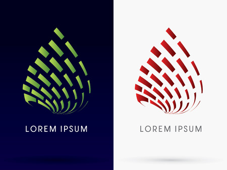 abstract building: Leaf and fire Abstract building Architecture logo symbol icon graphic vector.