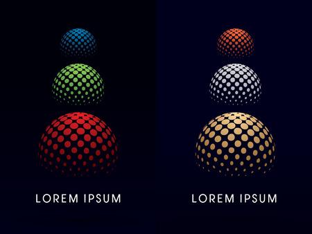esfera: Colores RGB Esfera logo edificio extracto símbolo del vector del icono gráfico.