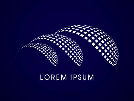 solar cell: Abstract  logo symbol icon graphic vector.