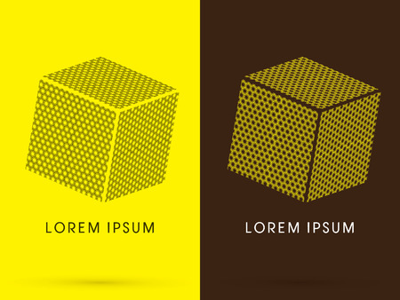 cube box: Honeycomb Abstract Square Cube Box sign  logo symbol icon graphic vector .