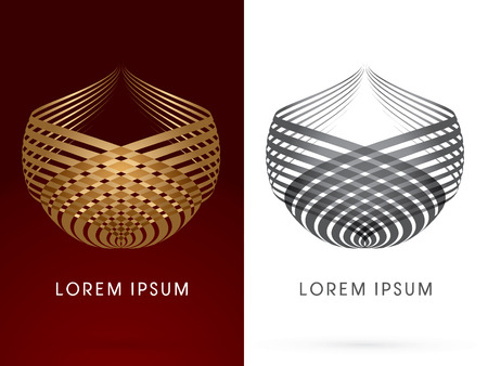 Luxury Abstract Construction, Architecture, Building , designed using gold and silver line ,logo, symbol, icon, graphic, vector.
